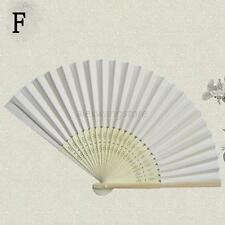 Outdoor Dance Bridal Wedding Party Potable Handheld Bamboo Folding White Useful