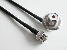 BNC plug to SO239 UHF VHF bulkhead 90°for car radio antenna mount RG58 cable 1M