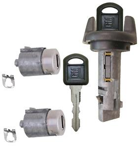 Passlock Ignition Key Switch Lock Cylinder & Door Lock Tumbler Set OEM 2 GM Keys