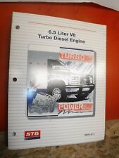 1992 GM 6.5L V8 TURBO DIESEL ENGINE STUDENT SERVICE TRAINING MANUAL VERY CLEAN