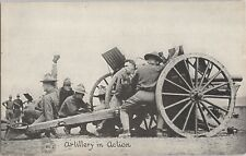 Postcard WWI Soldier Doughboy Artillery in Action Chicago Daily News  F10