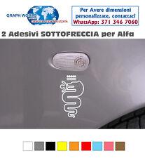 2 ADESIVI SOTTOFRECCIA ALFA ROMEO STICKERS  Mito Giulietta 147 159 156
