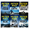 Enzo File Series Peter May 6 Books Collection Pack Set Blacklight Blue,Blowback