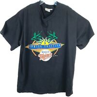 Minnesota Twins Mens XXL Black T-Shirt Vtg 95 MLB Spring Training Spectator