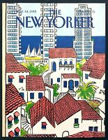 1988 Beach Town Homes & Condo art by Arthur Getz March 14 New Yorker COVER ONLY
