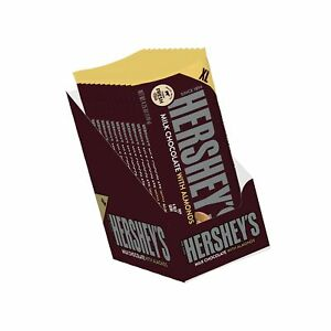 HERSHEY'S Bulk Milk Chocolate Candy Bar with Almonds, 4.2 Oz. (Pack of 12)
