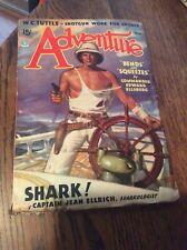 Vintage Adventure Pulp Magazine Book March 1936 Bends Squeezes Shark Tuttle