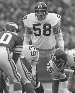 1975 Pittsburgh Steelers JACK LAMBERT Glossy 8x10 Photo Super Bowl IX Print