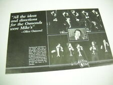 The Osmonds Mike Curb w/ Olive Osmond quote Rare 1977 music biz promo advert
