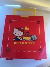 Sanrio Original Classic Hello Kitty Rare Plastic Storage Carrying Box 2007 Apple