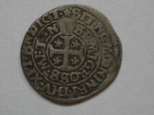 1716. French Medieval coins, LORRAINE, City of Metz, Demi gros  1648