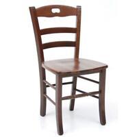 sedia poltrona Loris in legno massello noce arredo casa pranzo cucina