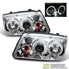 1999-2005 VW Jetta Mk4 Bora LED Dual Halo Projector Headlights Lamps Left+Right