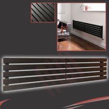 "1850mm (W) x 360mm (h) ""Corwen"" radiador negra horizontal 3006 Btu 6 paneles planos"