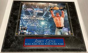 JOHN CENA FRAMED 8X10 PHOTO-MAN CAVE ART-12X15 WALL PLAQUE WWE DECOR