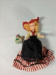 Vintage Blonde Souvenir Doll Hand Painted Face Excellent Condition Eye Lids Move