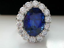 Princess Kate + Lady Dianna + HUGE SAPPHIRE & DIAMOND RING + HANDMADE/PLATINUM