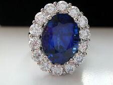 Princess Kate + Lady Dianna + HUGE SAPPHIRE & DIAMOND RING + HANDMADE/PLATINUM