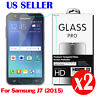 2X 9H Premium Tempered Glass Screen Protector Film For Samsung Galaxy J7 2015