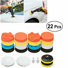 22PCS 3 Inch Polishing Pad Sponge Buff Buffing Kit Set For Car Polisher Drill US