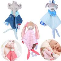 Newborn Soft Baby Teddy Bear Puppet Toy Gift Snuggle Baby Comforter Blanket UK