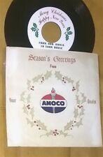"AMOCO Gas FUEL Season's Greetings CHRISTMAS PROMO Record 7"" 45RPM w/PS 1960 BUNA"