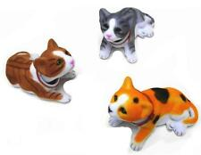 3 ASSORTED BOBBLE HEAD KITTENS moving toy cats NV1121#2 novelty bouncing heads
