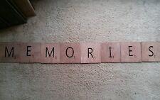 "Large Scrabble Tiles For Wall Art Wooden Sign Primitive 'MEMORIES"" handmade"