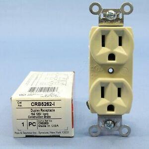 P&S Ivory Construction Duplex Outlet Receptacle NEMA 5-15R 15A 125V CRB5262-I