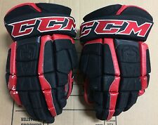 "CCM U+ CL Crazy Light 14"" Pro Stock Hockey Gloves Chicago Blackhawks 2572"