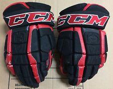 "CCM U+ CL Crazy Light 14"" Pro Stock Hockey Gloves Chicago Blackhawks 2572"