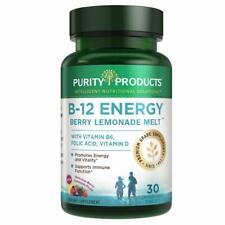 B-12 Energy Berry Lemonade Melt w/ Fruits- Purity Products - Methylcobalamin B12