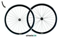 700c wheelsON Road Racing Bike Front Rear Wheels Set 8/9/10 Speed QR Black 40mm