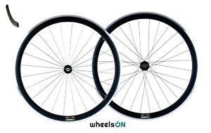 700c wheelsON Road Racing Bike Front Rear Wheels Set 8/9/10 Speed QR Black 40mm