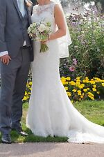 Justin Alexander wedding dress, ivory and alabaster, size 8-10
