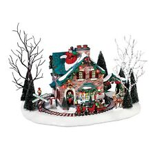 56.55359 Dept 56 Christmas Village Building Santa's Wonderland House NIP Train