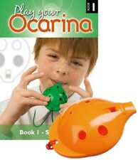 Plastic OCARINA, Orange 4-hole, and Play Your Ocarina BOOK 1 with FREE DELIVERY
