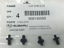 2008-2019 Subaru Bumper Cover Retainer Clips (4) Impreza Crosstrek 909140059 OEM