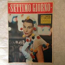 RIVISTA SETTIMO GIORNO 30 7/1952 DISCO VOLANTE FESTIVAL FILM METRO PARIGI FABBRI