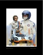 Steve McQueen Artist Proof Lithograph McQUEENS LeMANS With COA