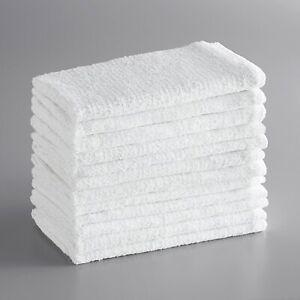48 Pack Bar Mop Cotton Ribbed Terry Bar Towel Kitchen Towel -14x17 - Bulk
