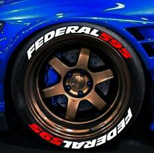 """FEDERAL 595 FULLSET 8pieces Tire Letters Stickers decal HIGH QUALITY 14"""" to 22"""""""