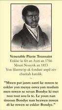HAITIAN CREOLE - Venerable Pierre Toussaint Prayer CARD (wallet size)