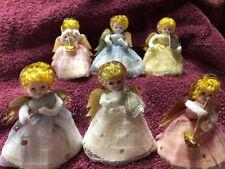 Musical Angels Christmas VTG Set Of 6 Spun 1959 Foil Japan Max Eckardt & Sons