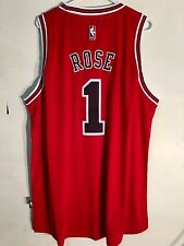 Adidas Swingman 2015-16 NBA Jersey Chicago Bulls Derrick  Rose Red sz L