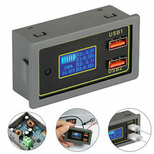 12V 24V Dual USB Car Monitor Tester Fast Charge Battery Capacity Voltage Display