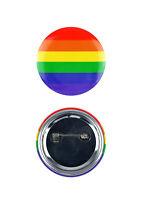 Arcoiris Redondo Lgbt Gay Lésbica Trans Orgullo 40mm Botón Pin Festival de Chapa