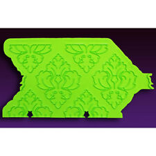 Damask-Pattern Onlay Silicone Fondant Stencil by Marvelous Molds