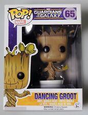 ESZ423. Dancing GROOT POP MARVEL Guardians of the Galaxy Vinyl FIGURE #65 FUNKO