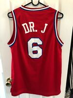 Julius Erving Dr. J Philadelphia 76ers Sixers Adidas Jersey Size Small